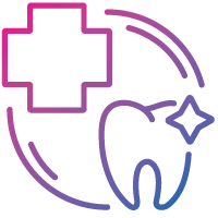 health and dental insurance icon