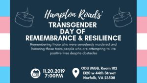 Hampton Roads Transgender Day of Remembrance