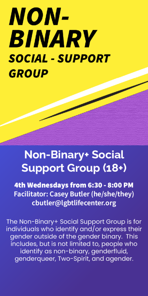 Nonbinary social support group